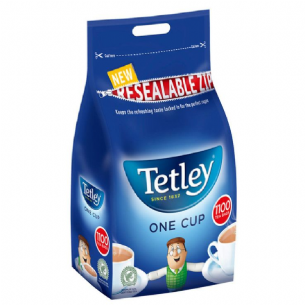 Tetley One Cup 1100 Black Tea Bags, 2.5kg Bag, Tetley Since 1837